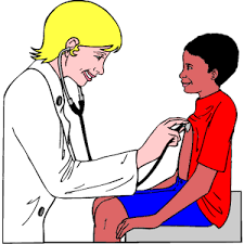 doctor checking boy